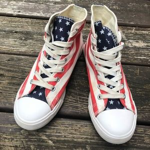 Shoes - American Flag Chucks Style Shoes